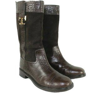 Tory Burch Boots Mid Calf Size 9M Brown Leather